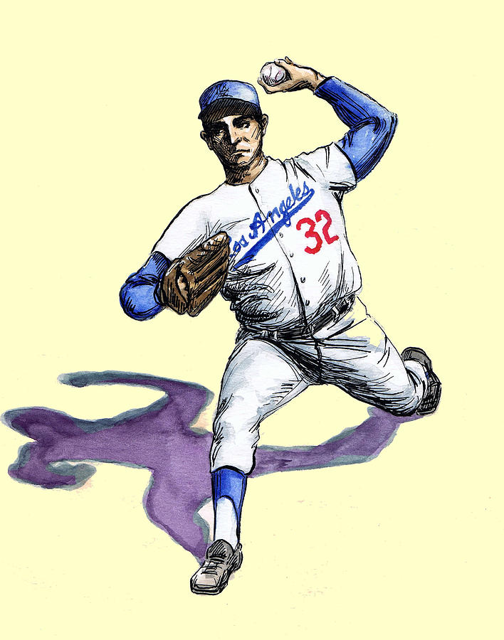 Sandy Koufax Drawing