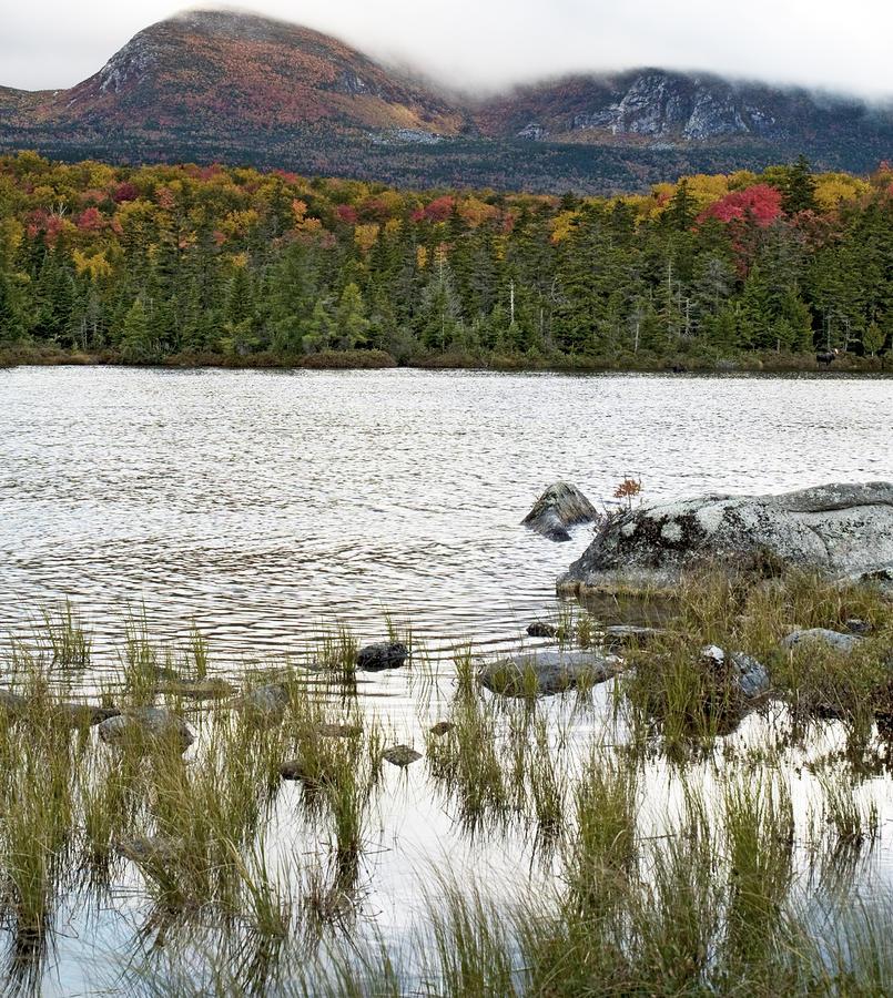 Sandy Stream Pond View Of Baxter Peak In Baxter State Park Maine Photograph