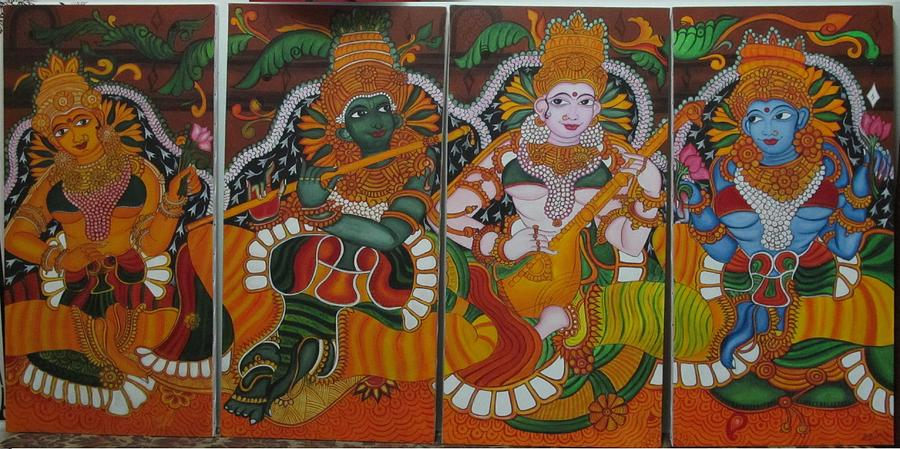 Sangeet mural painting by suja mithun for Cost of mural painting
