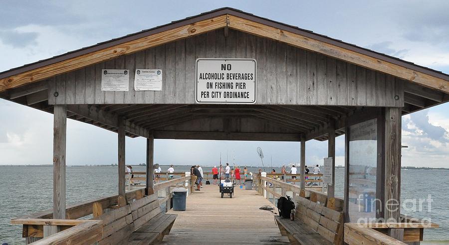 Sanibel island fishing pier by john black for Sanibel fishing pier