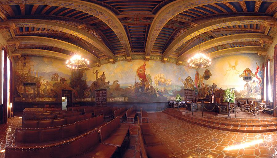 Santa Barbara Court House Mural Room Photograph Photograph  - Santa Barbara Court House Mural Room Photograph Fine Art Print