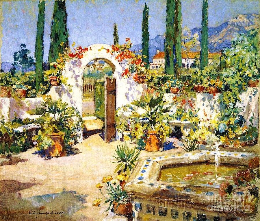 Santa Barbara Courtyard Painting