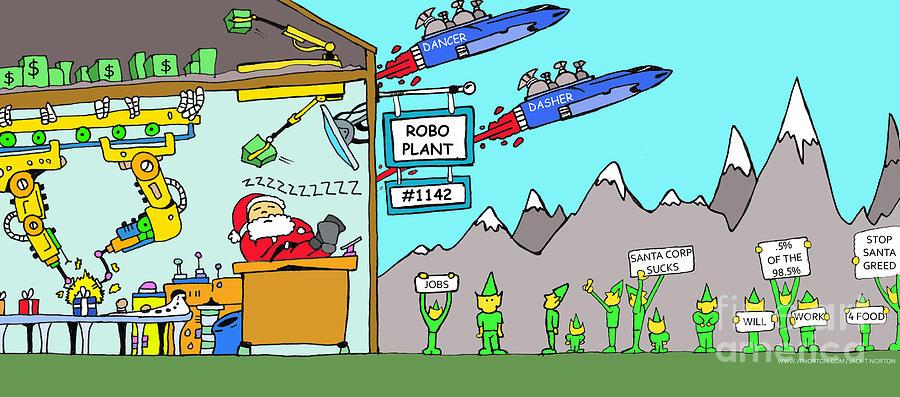 Santa Corp Drawing