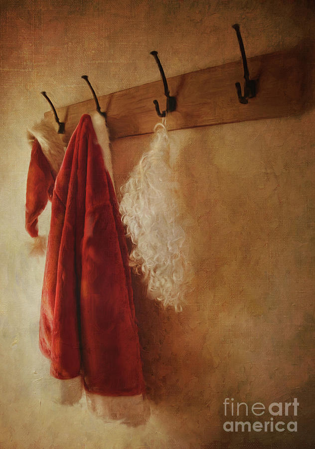 Santa Costume Hanging On Coat Hook Photograph
