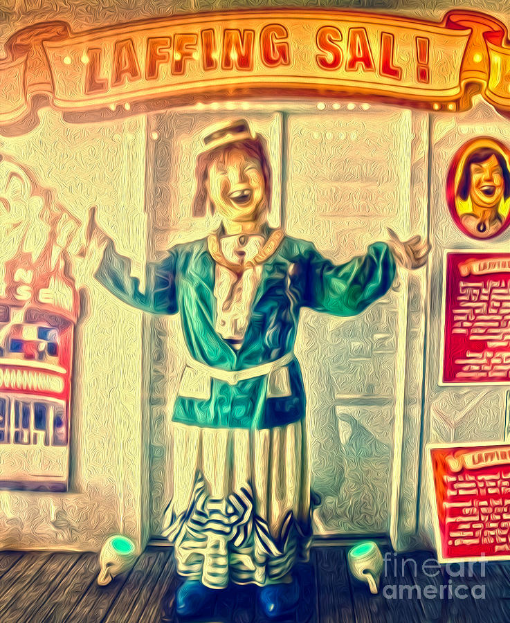 Santa Cruz Boardwalk - Laffing Sal Painting