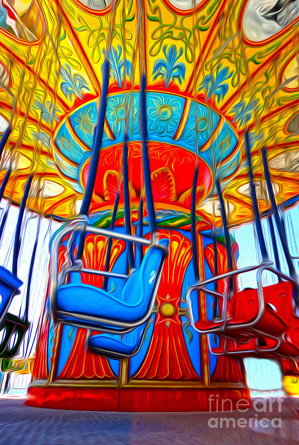 Santa Cruz Boardwalk - Tilt-a-whirl - 02 Painting