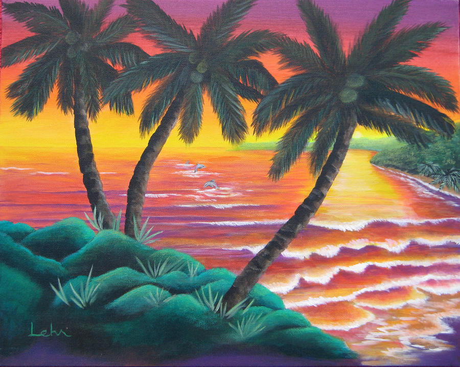 Ocean Painting - Santa Cruz by Diana Lehr