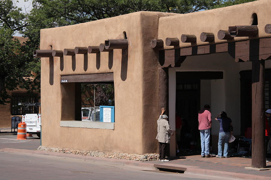 Santa fe new mexico adobe building by frank romeo for Building an adobe house