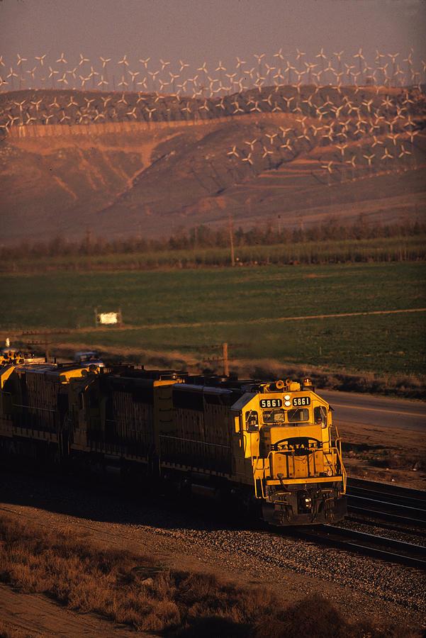 Trains Photograph - Santa Fe Windmills by Susan  Benson