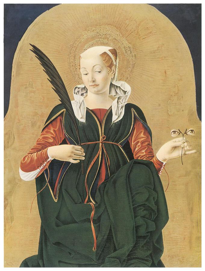 Francesco Del Cossa Painting - Santa Lucia by Francesco Del Cossa