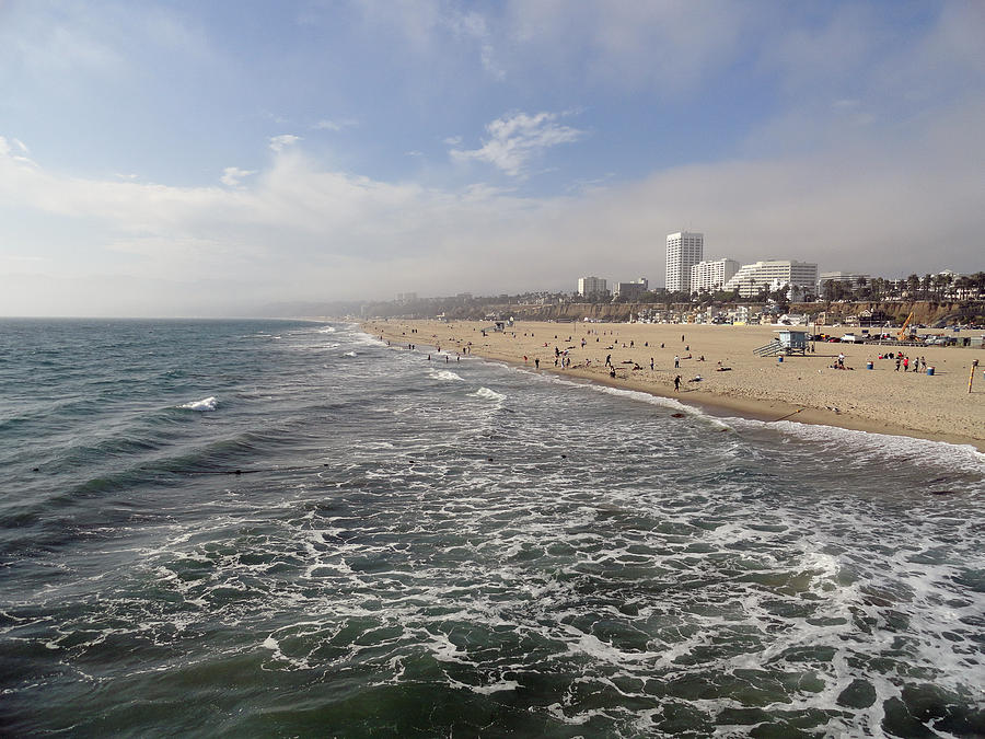 Santa Monica Beach Photograph  - Santa Monica Beach Fine Art Print