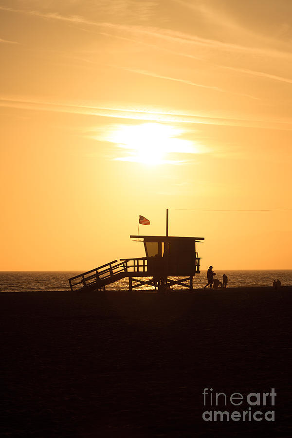 Santa Monica California Sunset Photo Photograph  - Santa Monica California Sunset Photo Fine Art Print