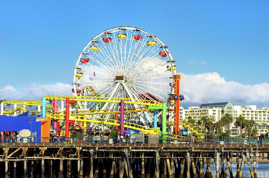 Curtains Ideas santa shower curtain : Santa Photograph - Santa Monica Pier Pacific Park by Mariola Bitner