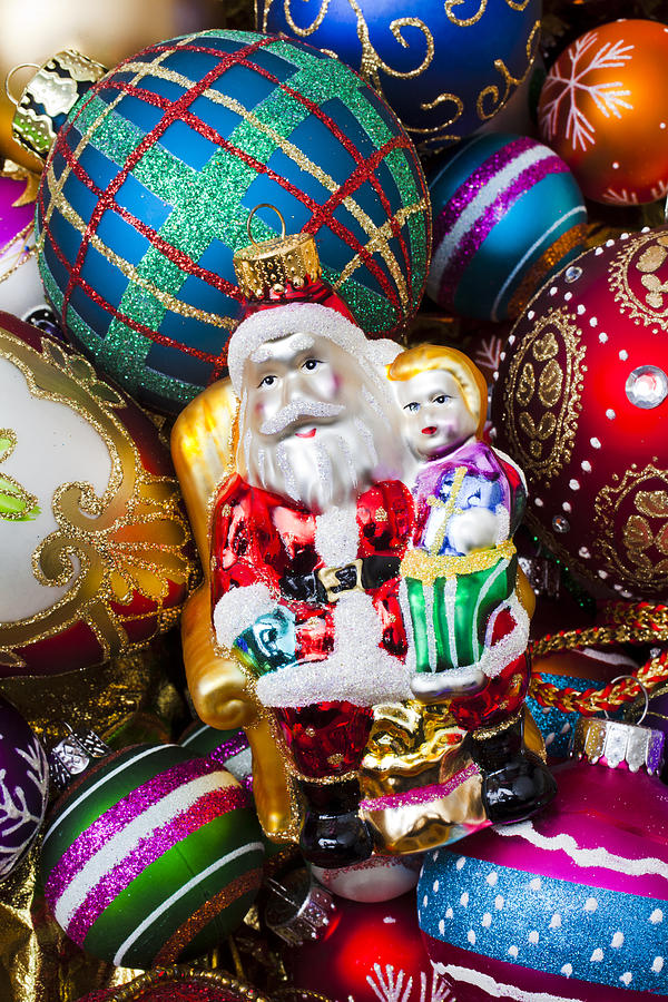 Santa Ornament Photograph