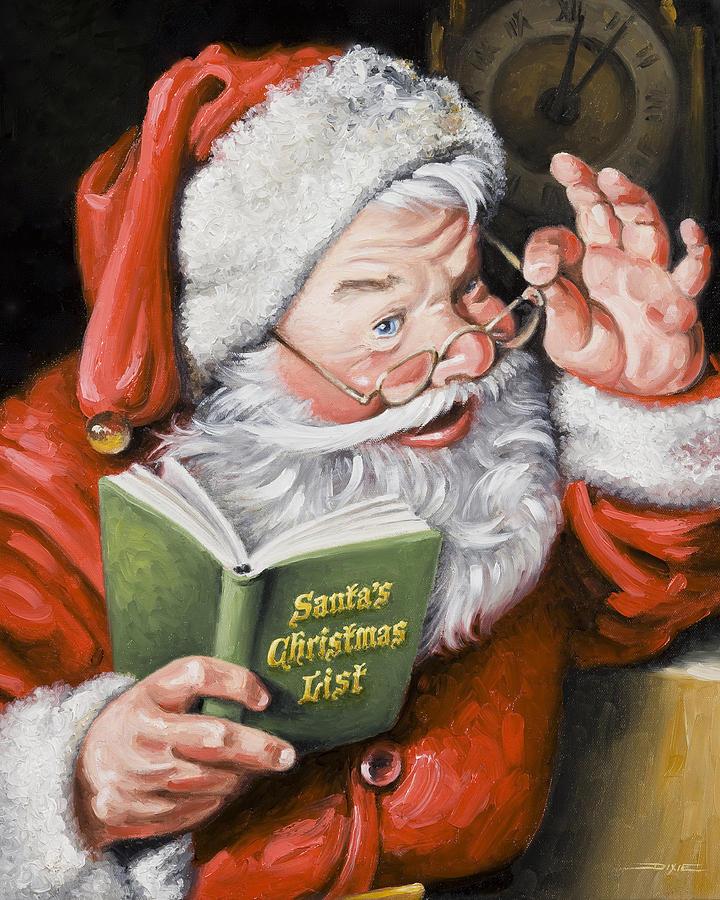 Santa Claus Paintings Sale