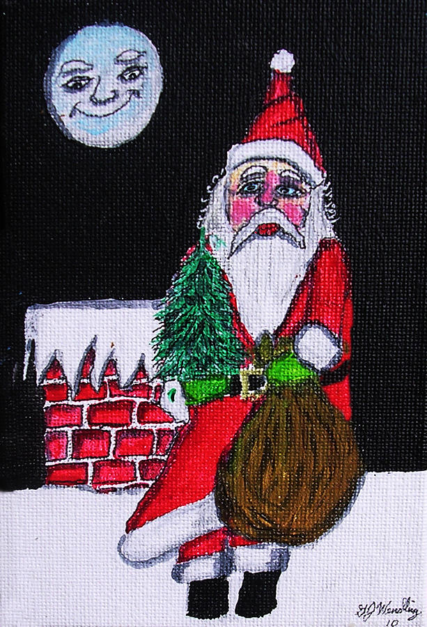 Santas Friend Painting  - Santas Friend Fine Art Print