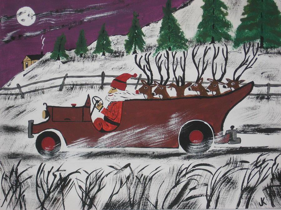 Santas Truckload Painting