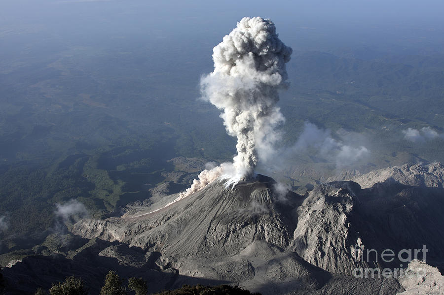 Santiaguito Ash Eruption, Guatemala Photograph