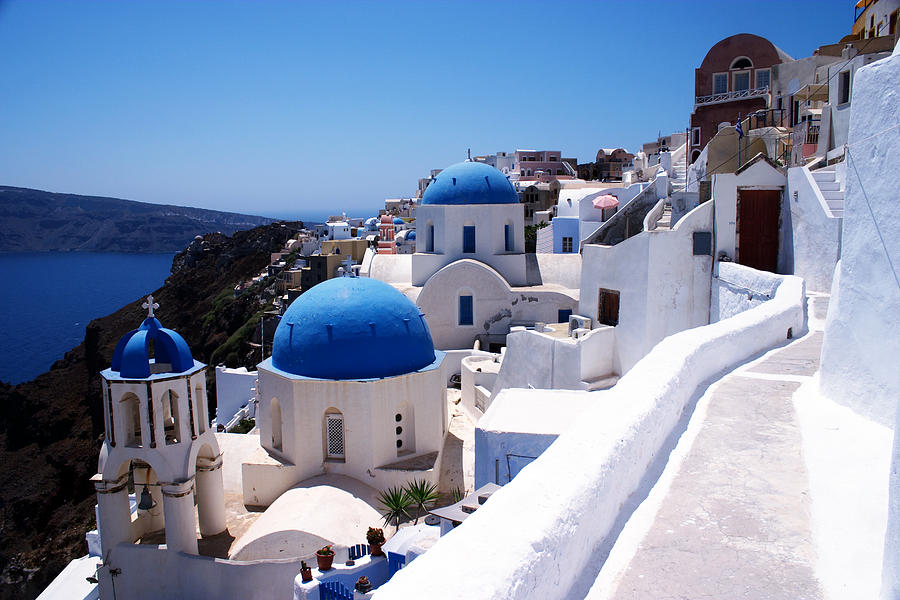 Santorini Churches Photograph  - Santorini Churches Fine Art Print