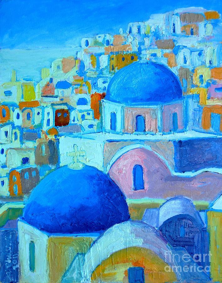 Santorini Cityscape 2 Painting