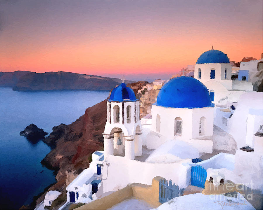 painting of greece