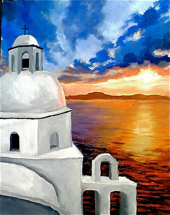 Back to James Falciano | Art > Paintings > Landscape PaintingsAcrylic Paintings Sunset