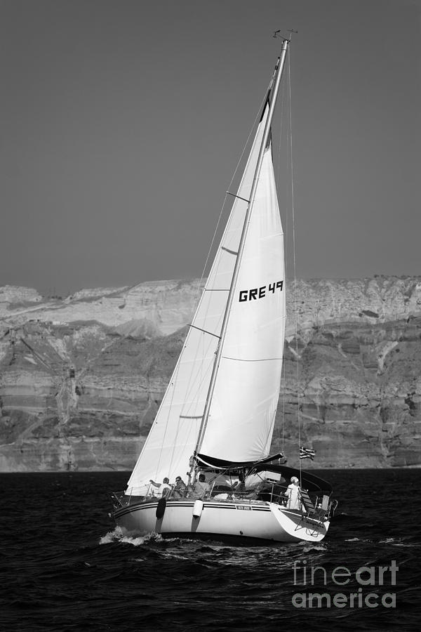 Santorini Sail Photograph