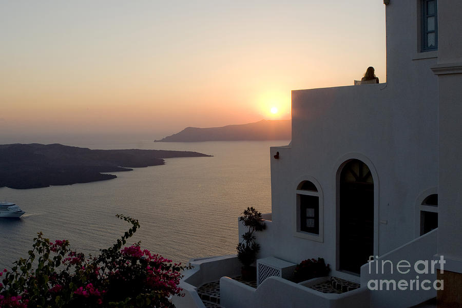 Santorini Sunset Photograph  - Santorini Sunset Fine Art Print