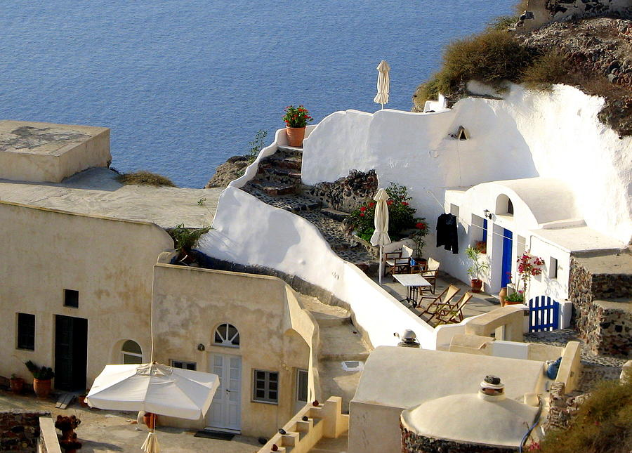 Santorini Terrace Photograph