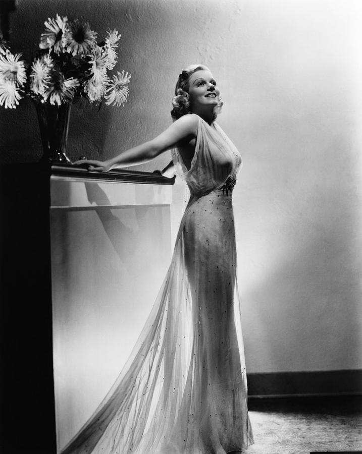 1930s Fashion Photograph - Saratoga, Jean Harlow, In A Gown by Everett