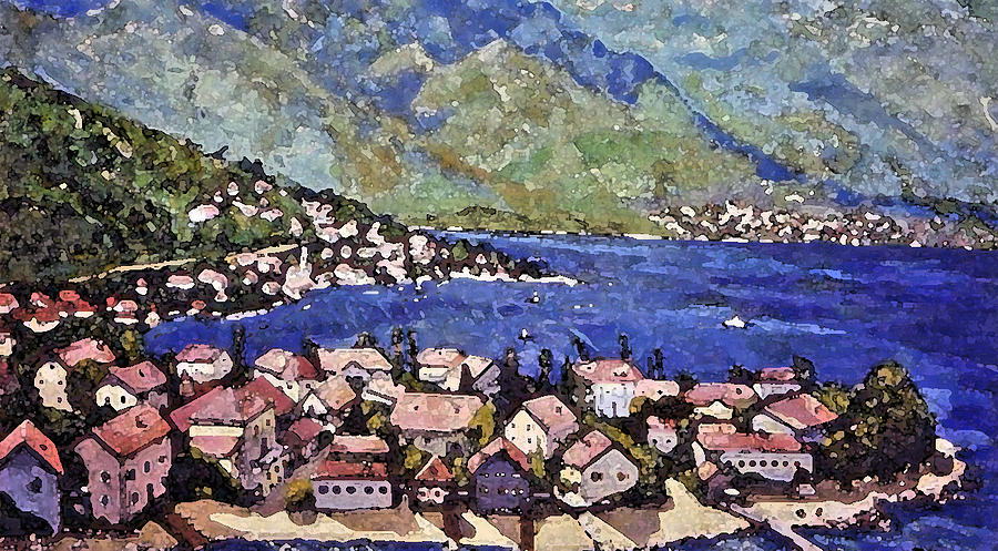 Sardinia On The Blue Mediterranean Sea Painting