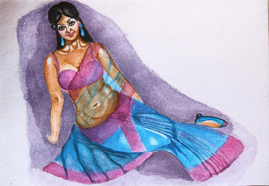 Saree Kitsch Painting