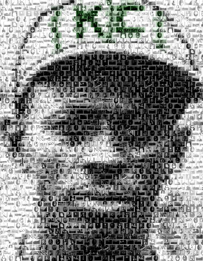 Satchel Paige Kc Monarchs African American Mosaic Mixed Media