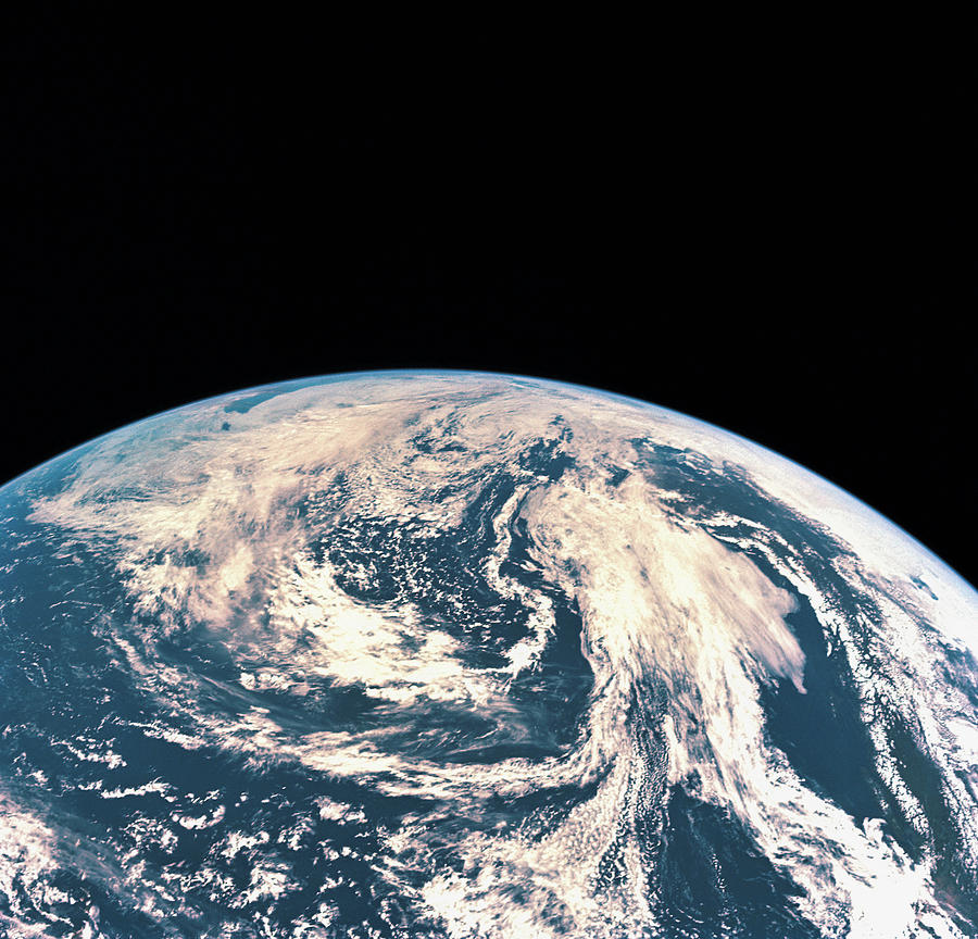 Satellite View Of The Earths Surface Photograph  - Satellite View Of The Earths Surface Fine Art Print