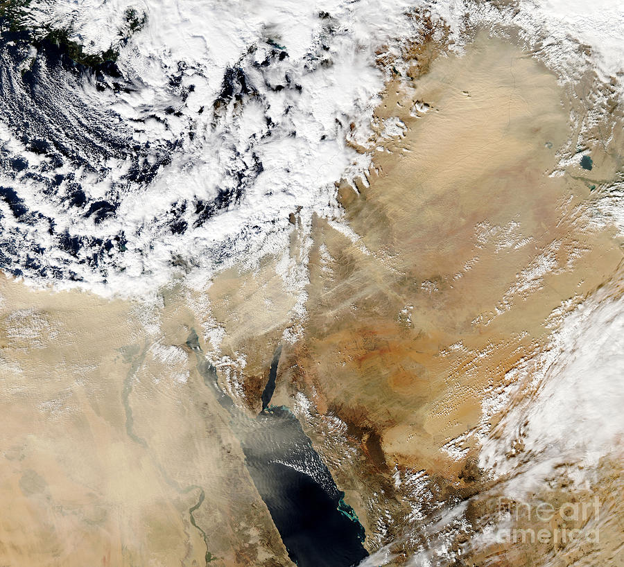 Cloud Photograph - Satellite View Of The Eastern by Stocktrek Images