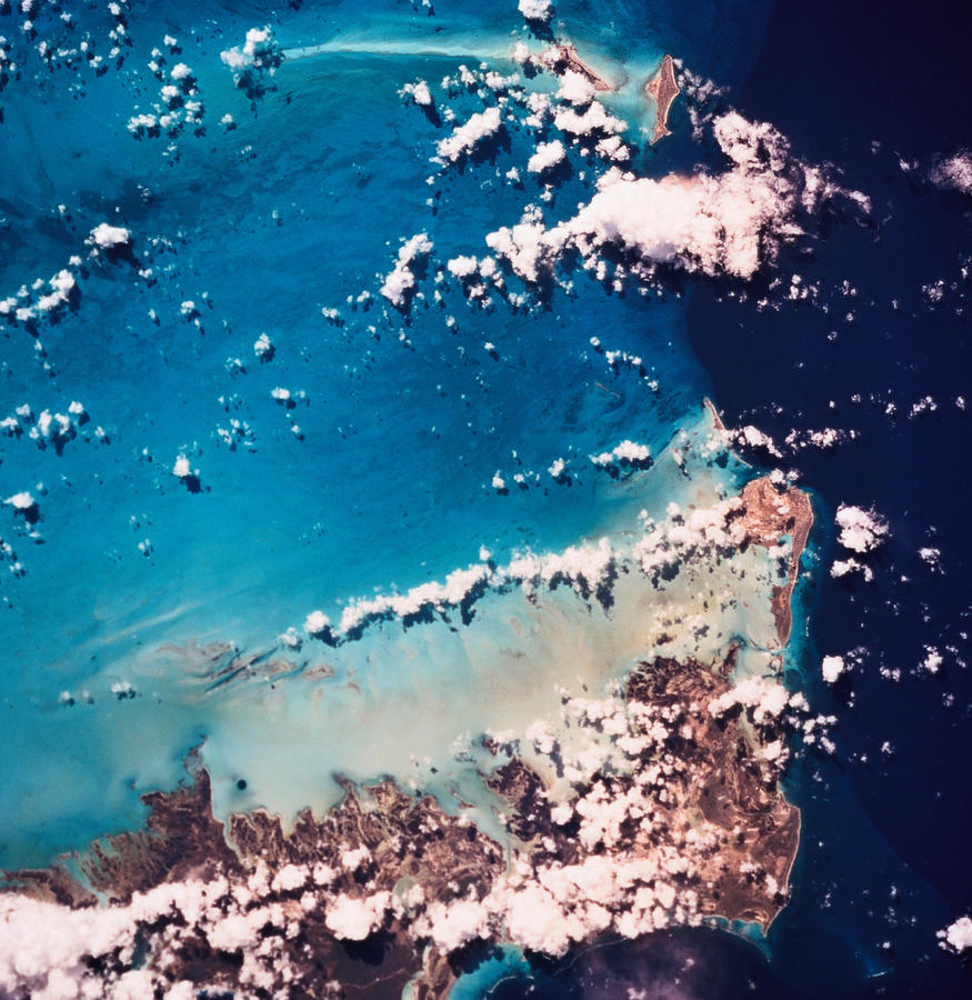 Square Photograph - Satellite View Of The Ocean by Stockbyte