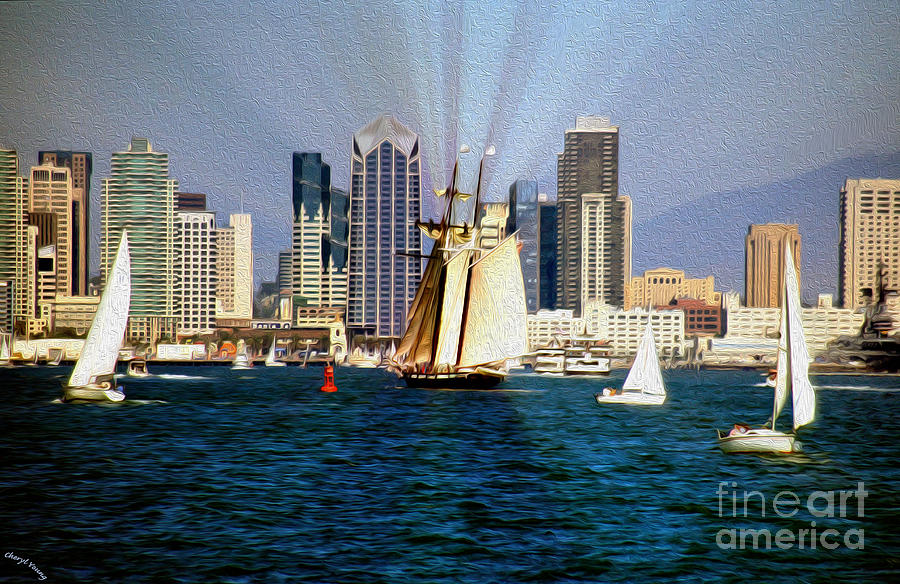 Saturday In San Diego Bay Photograph