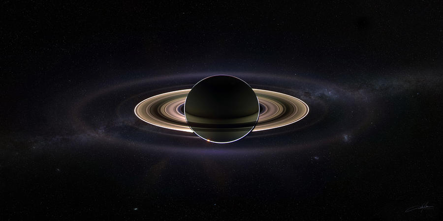 Saturn Digital Art  - Saturn Fine Art Print