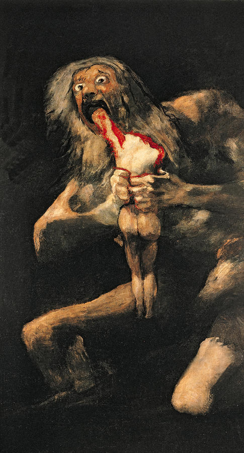 Saturn Devouring One Of His Children  Painting