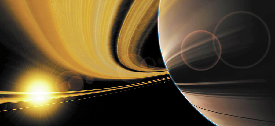 Saturn Glory Painting  - Saturn Glory Fine Art Print