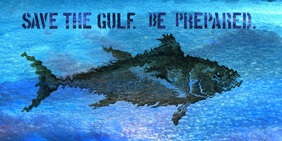 Save The Gulf America 2 Mixed Media  - Save The Gulf America 2 Fine Art Print