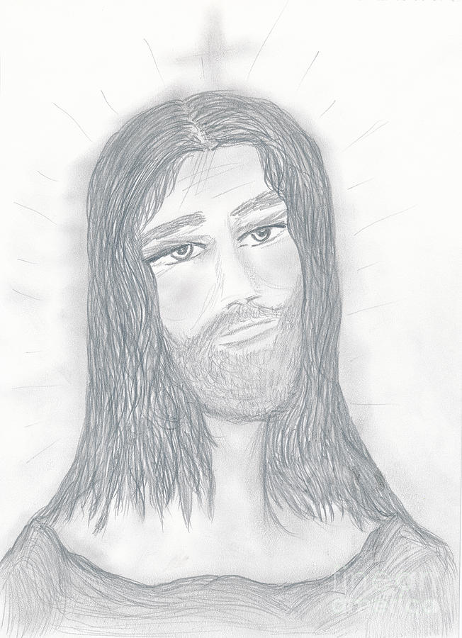 Savior Drawing  - Savior Fine Art Print
