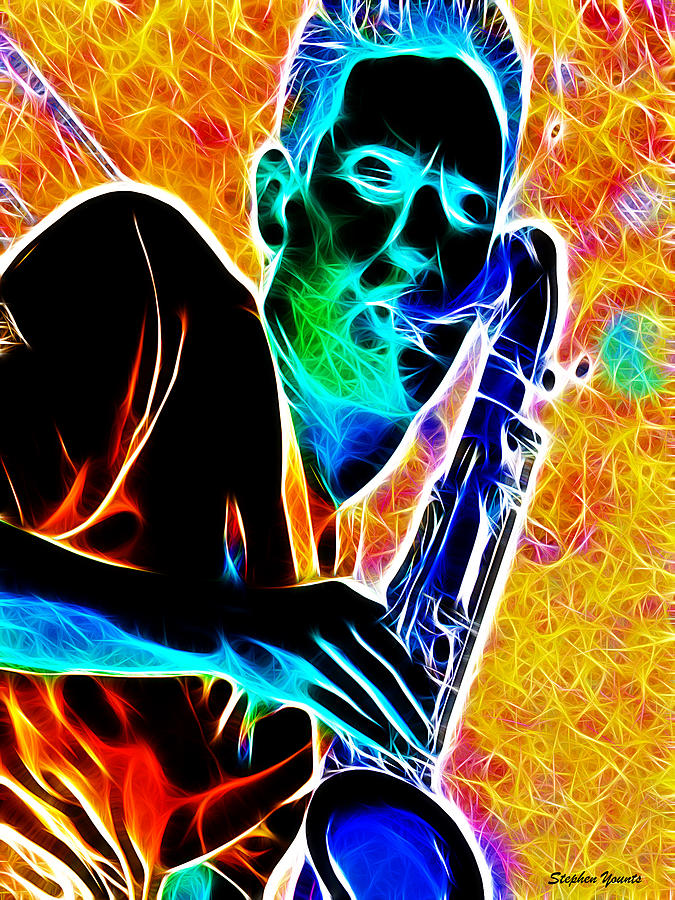 Sax Digital Art