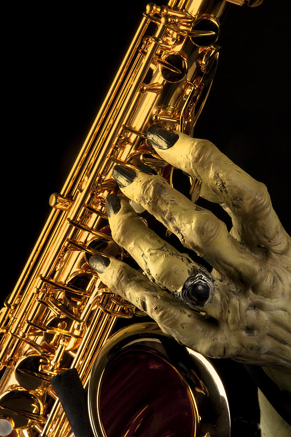 Saxophone Monster Hand Photograph