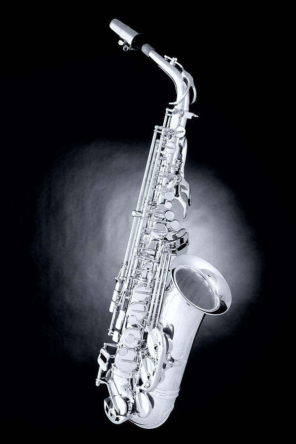 Saxophone On Spotlight Photograph