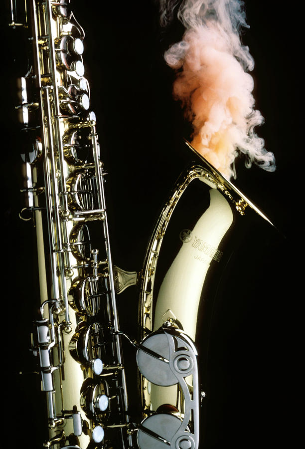 Saxophone With Smoke Photograph  - Saxophone With Smoke Fine Art Print