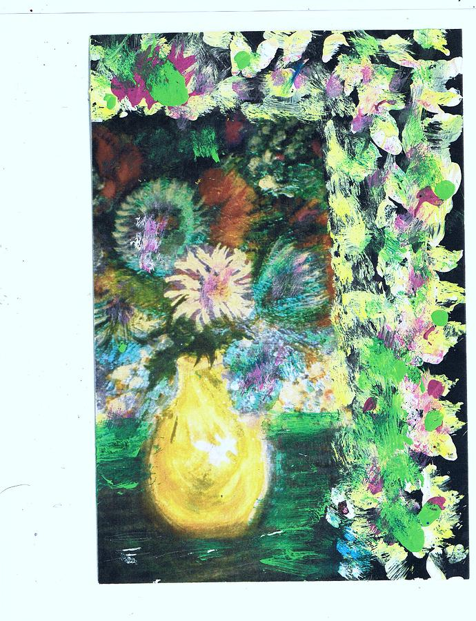 Say It With Flowers And Leaves Painting