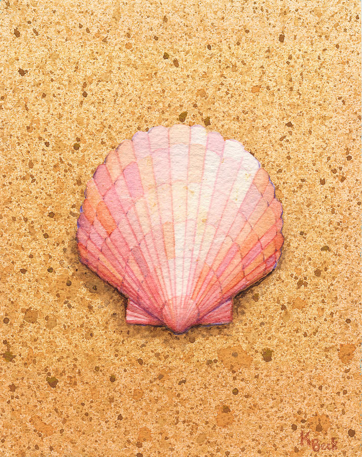 Scallop Shell Painting by Katherine Young-Beck