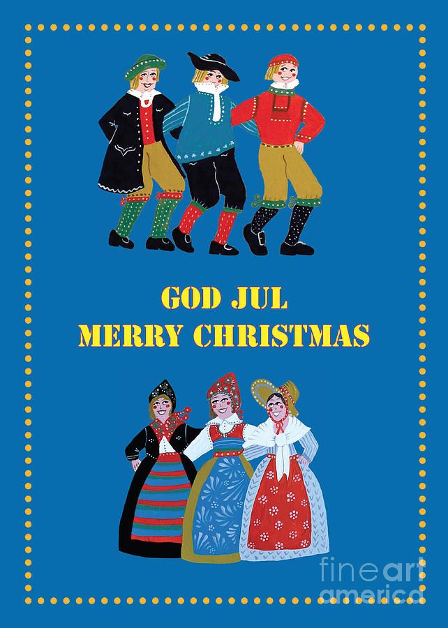 Scandinavian Christmas Card Painting