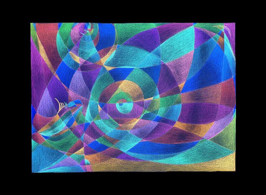 scarf pattern inverted colors painting by tatyana zverinskaya